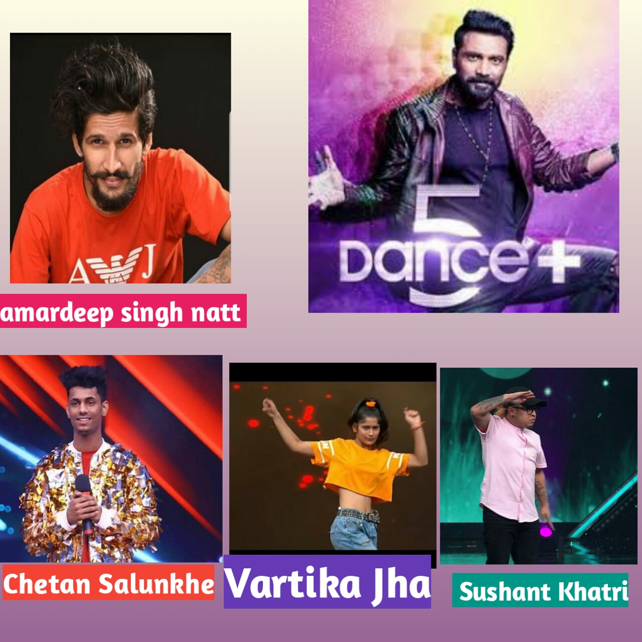 Pervious season artist come dance plus 5