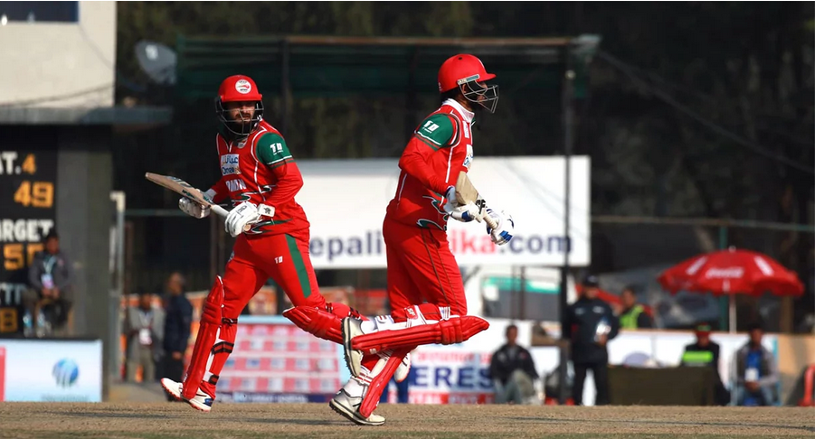 Nepal lost again to Oman on Cricket Match
