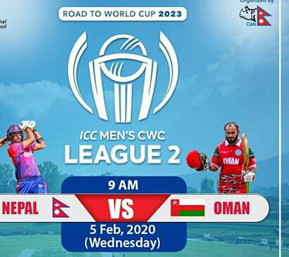 ICC Men CWC League  2 Nepal vs Oman