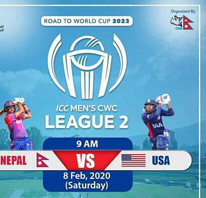 ICC Men's CWC League 2 Nepal vs USA