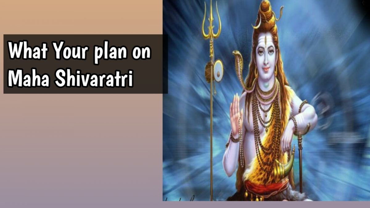 What your plan in Maha Shivaratri 2020