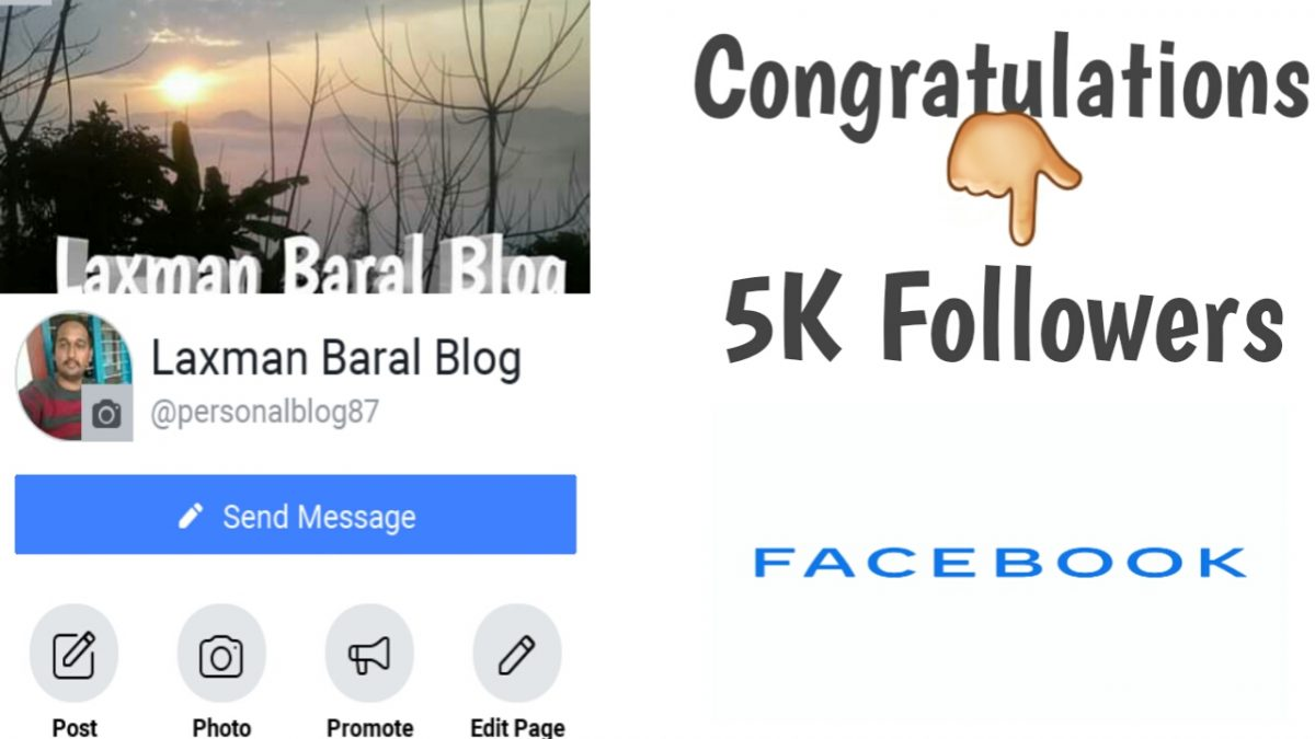 Congratulations to you Laxman baral Blog for 5k Followers