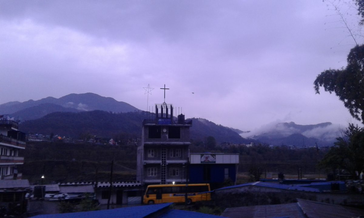 Moring Rainfall in Pokhara Today