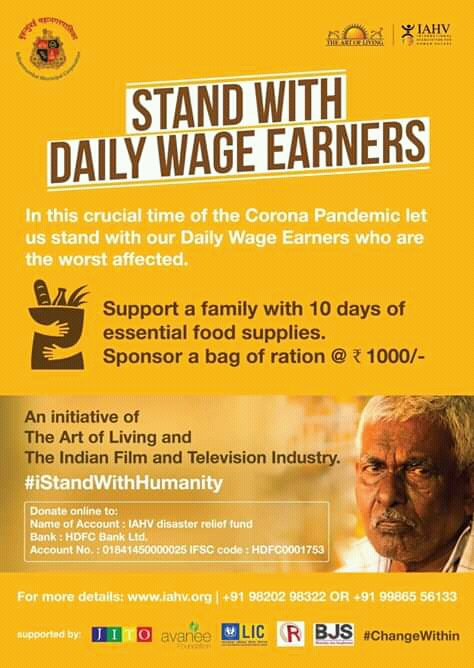 Stand with daily wage Earners