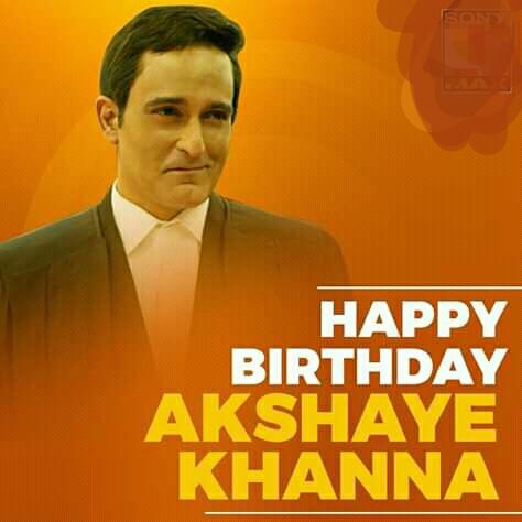 Happy Birthday Akshaye Khanna To You