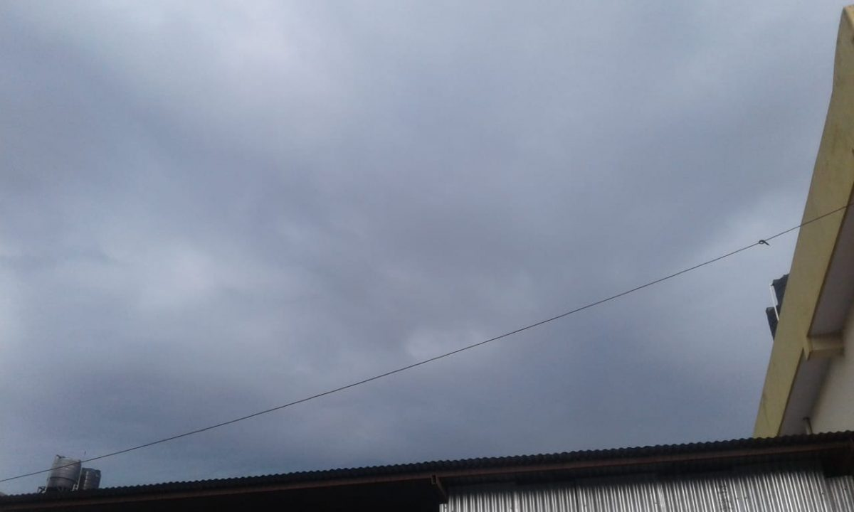 Black Cloudy Weather happen Today Morning