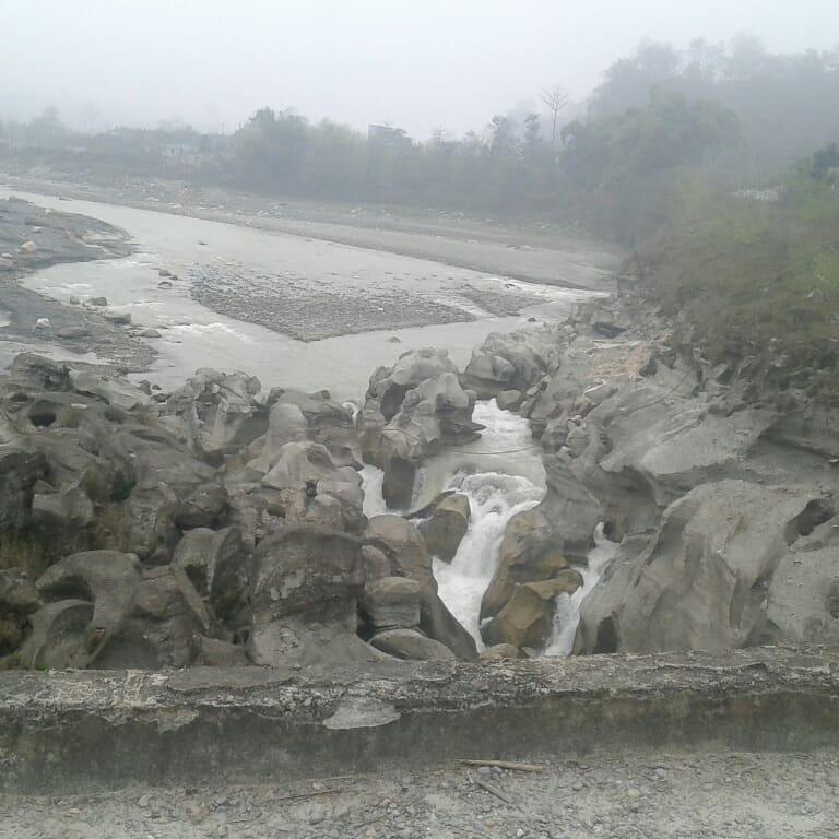 Heavy Rock Stone River in Tanahu