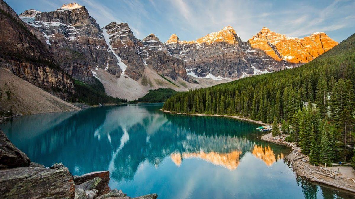 Visit Moraine Lake in Canada