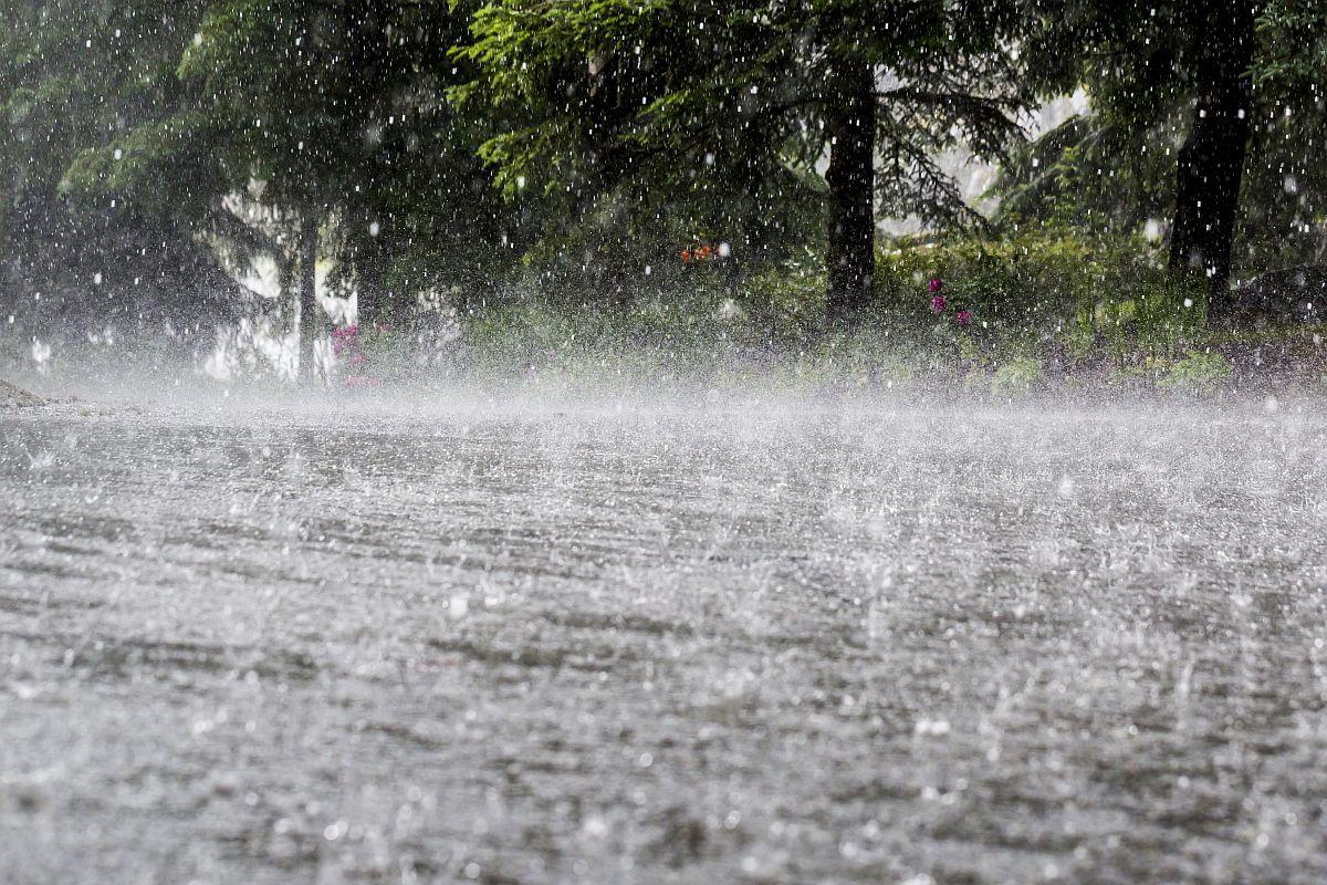 Yesterday heavy rainfall on Pokhara