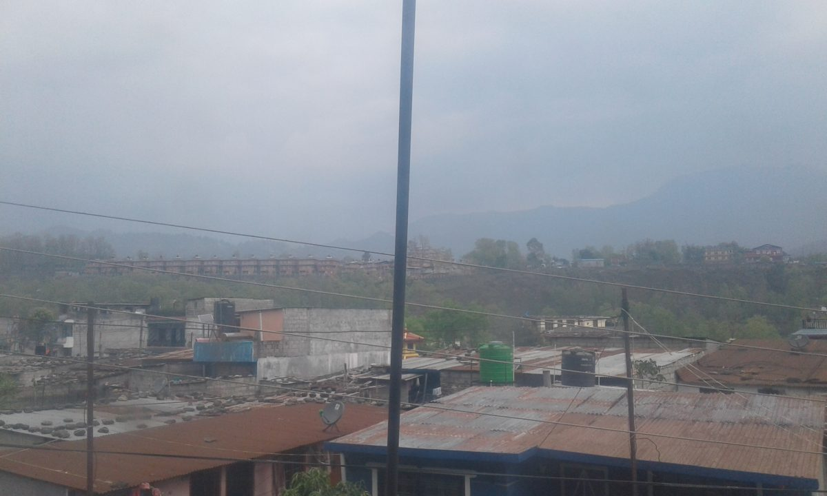 Getting ready for rainfall In Pokhara Today