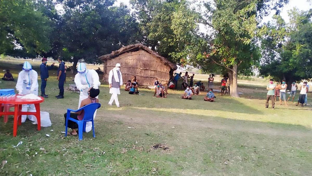112 infected in one village Local government tired