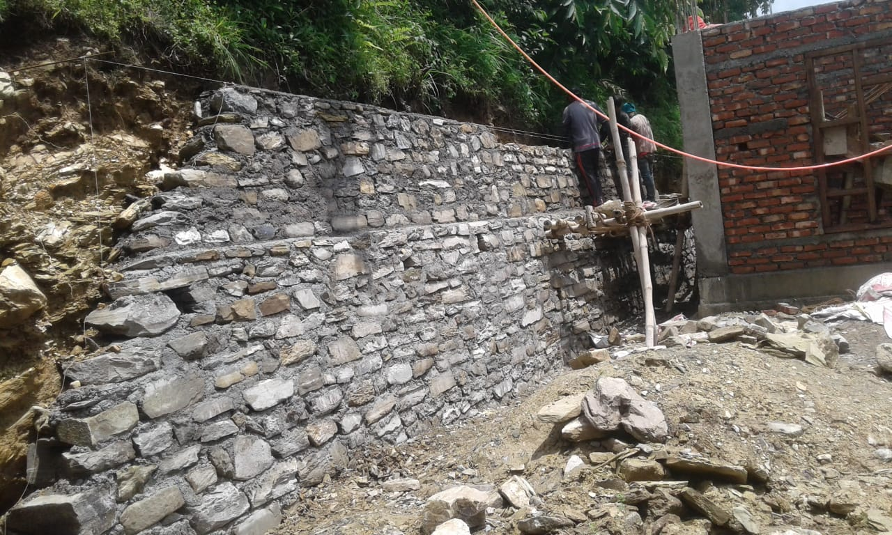 2nd Step Cement Wall Complete