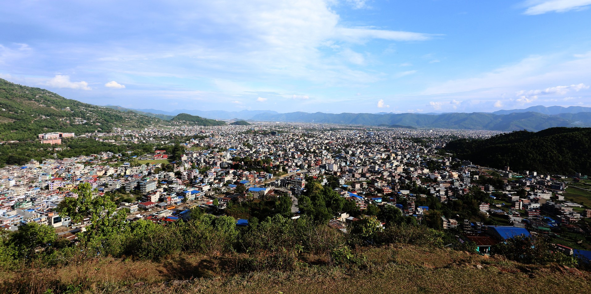 Beautiful view of Pokhara city