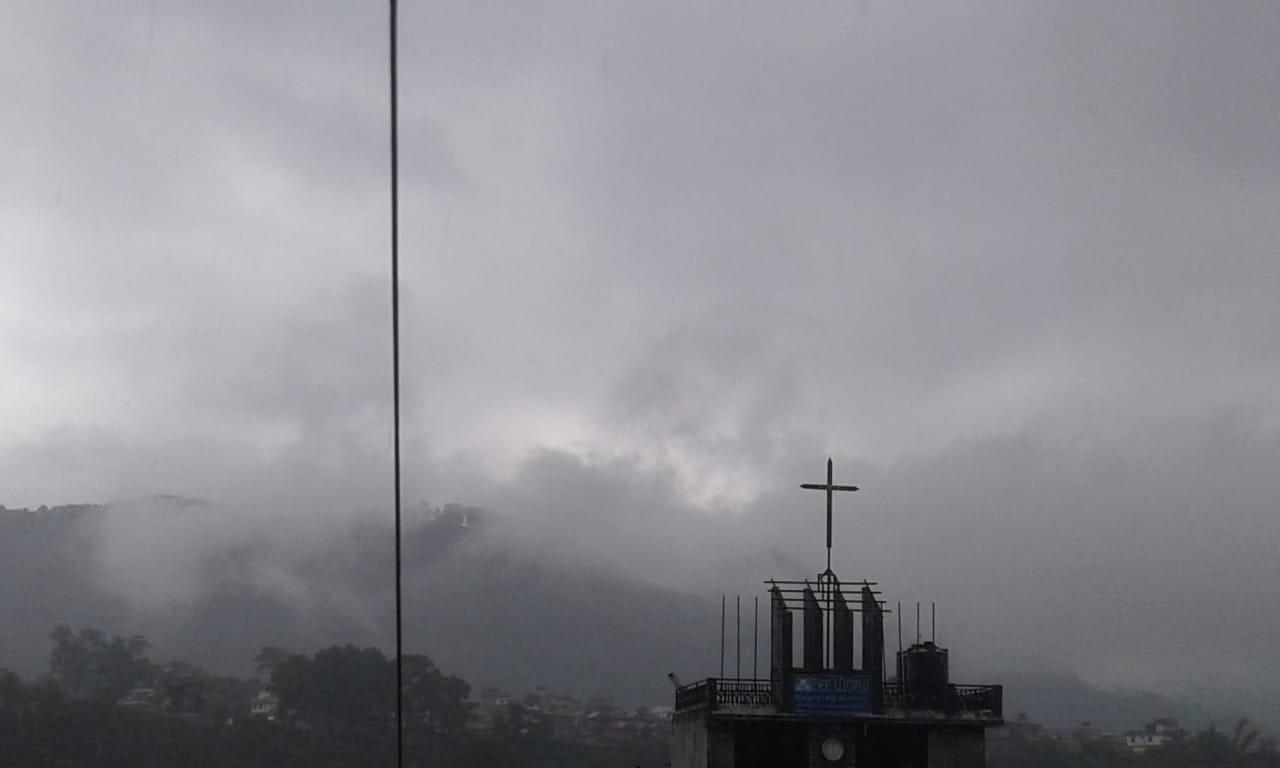 Dark Cloudy Weather happens in Nepal