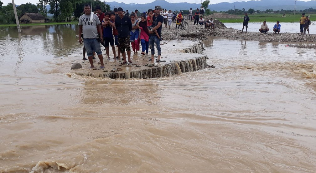Some part of the place were flood and landslides