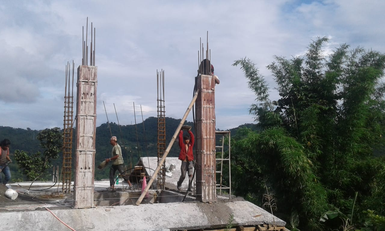 Pillar work is going on in the house