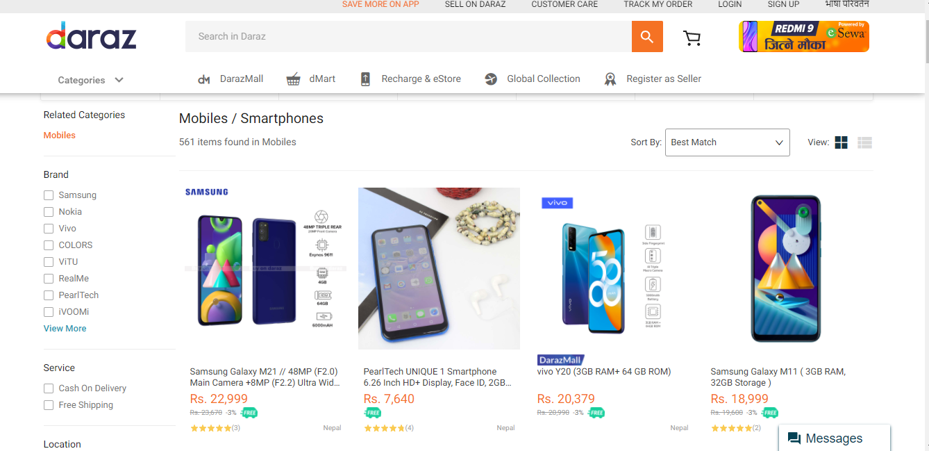 Not Satisfied to buy a Mobile phone on Daraz online in Nepal
