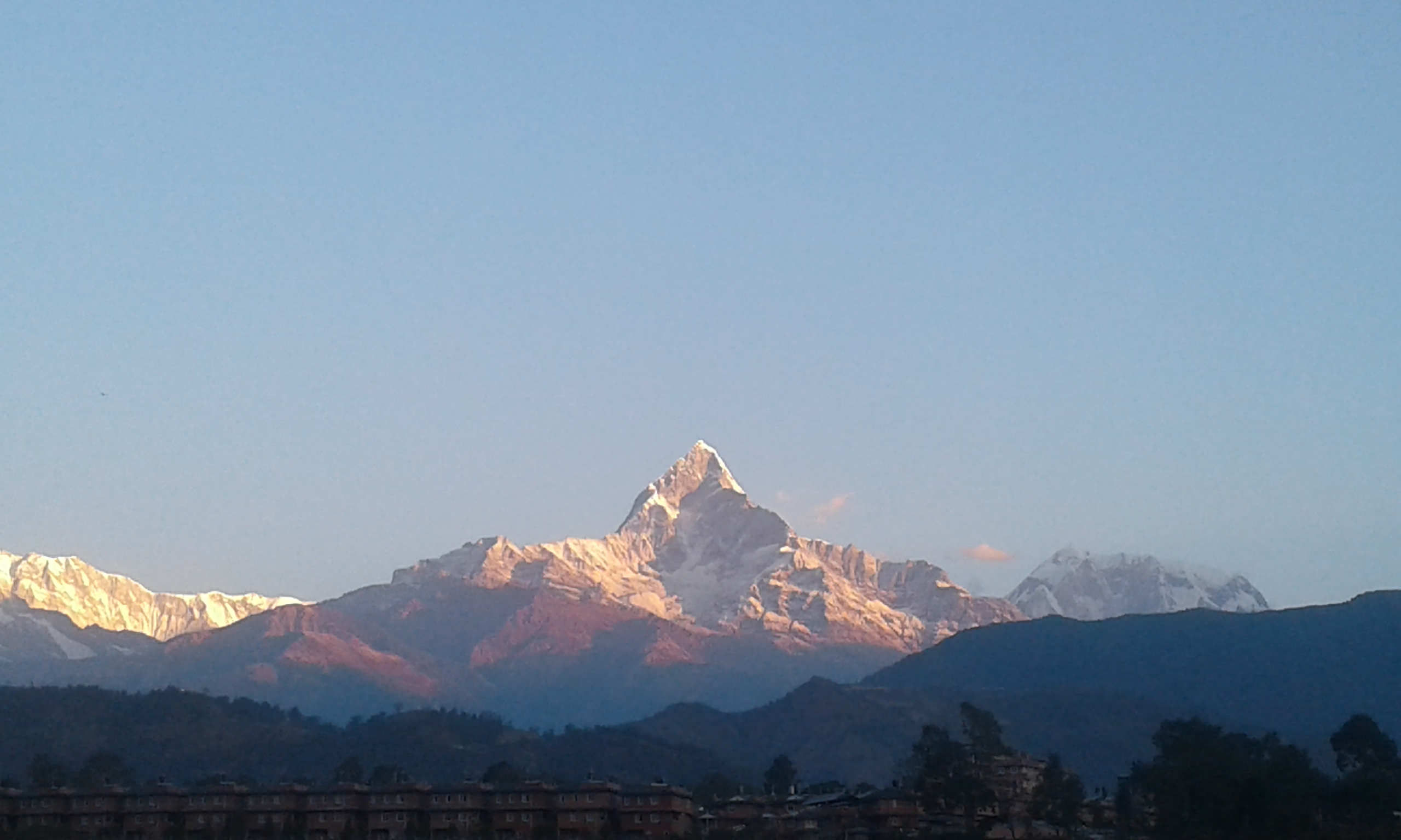 3th Day of Mangsir Morning Looks in Himalaya At Pokhara