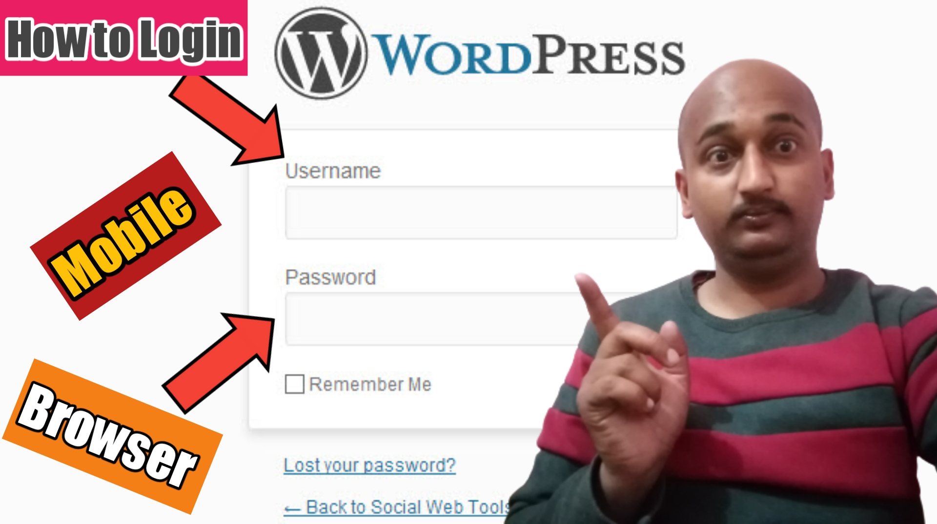 How to Login WordPress in Mobile Browsers