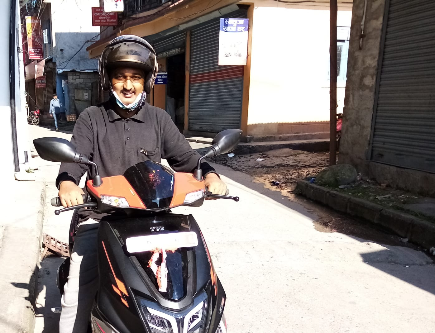 My New Scooter of TVS NTORQ 125 in Nepal