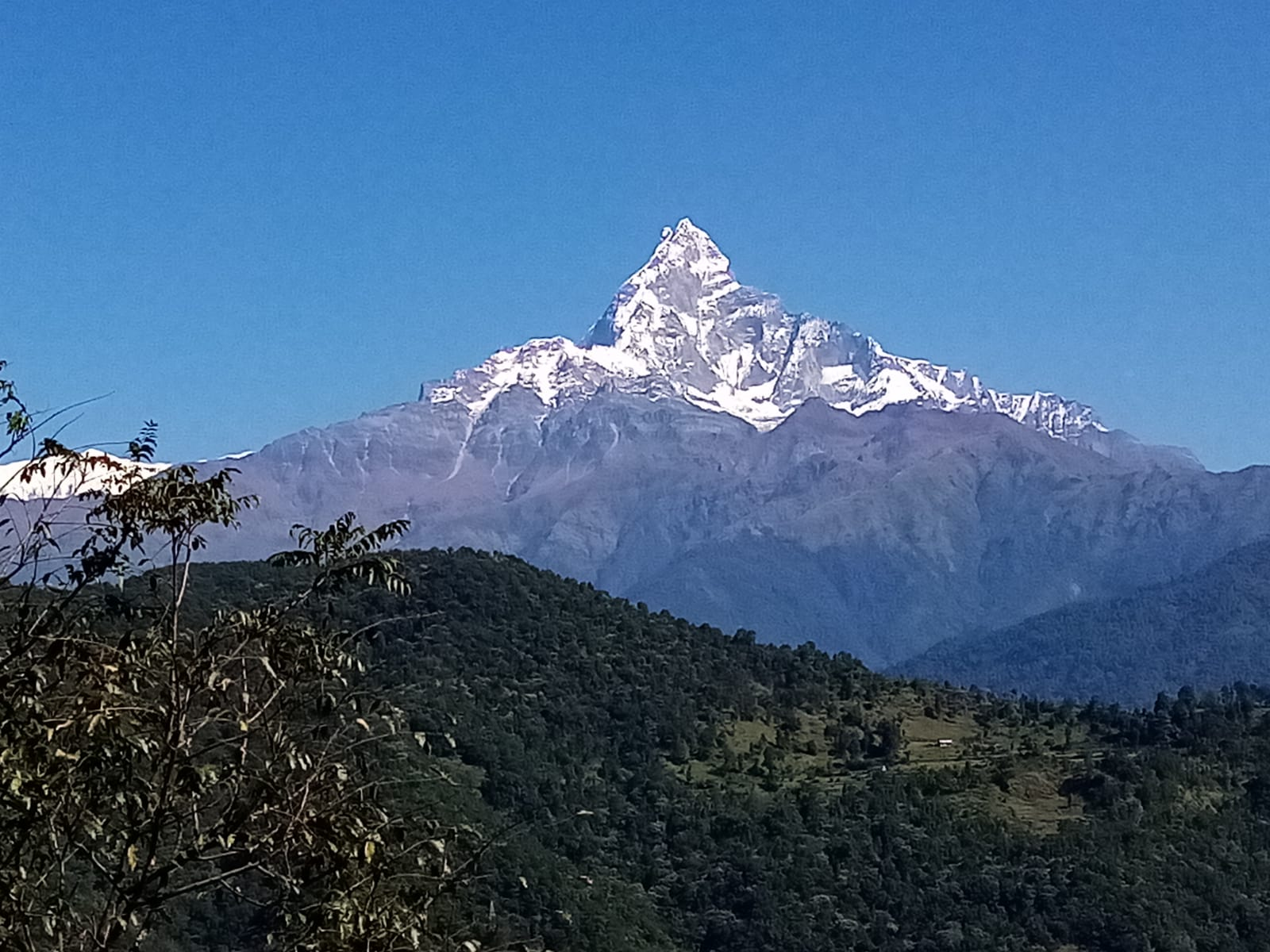 Good Weather looks in Machhapuchhare in Pokhara